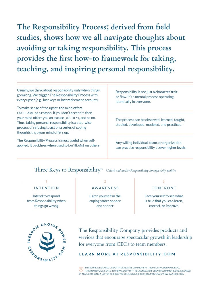 Responsibility Process Poster Back
